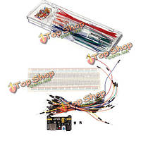MB-102 макетная + источник питания + 140шт наборы соединительный кабель