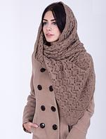 Женская шаль из мягкой пряжи 3068 (бежевый)