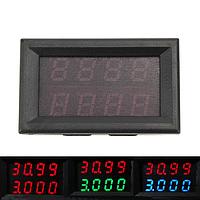 0-33v 0-3a четыре бита напряжения постоянного тока измеритель тока двойной цифровой LED дисплей вольтметр амперметр