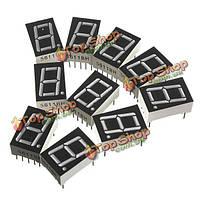 10 PC красные 7 сегментов 0.56-дюймов 1бит общий анод LED цифровая труба