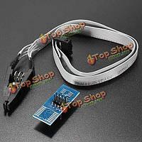 Тест sop8 soic8 зажим с кабелем для памяти EEPROM 93cxx / 25cxx / 24cxx
