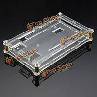 Прозрачные акриловые раковины коробка для Arduino mega2560 R3 в модуле доска