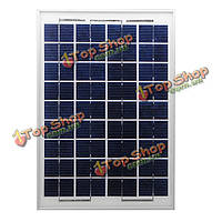 Поделки 10W солнечная панель для зарядки аккумулятора 12V поликристаллического кремния