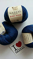 Gazzal Baby Wool - 802 темно-синий