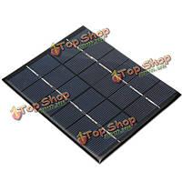 6v 2w солнечный модуль панели для легкой батареи сотового телефона зарядное устройство DIY
