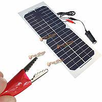 18v 10Вт 490x180мм Полуэластичное монокристаллический силиконовая панель солнечных батарей зарядное устройство