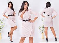 """Стильное платье """"Трикотаж Сота"""" в больших размерах в расцветках (30-8148)"""