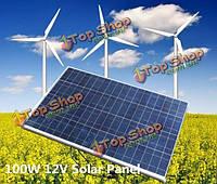 12v 100Вт 1000 х 670 х 30мм поликристаллического панели солнечных батарей с кабелем