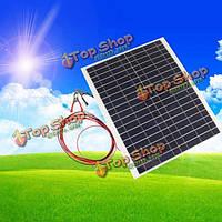 12v 20Вт 45см х 35см поликристаллических панели солнечных батарей с аллигатора зажимом провода