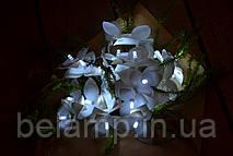 Гирлянда на батарейках из 20 пушистых орхидей