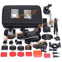 15в1 аксессуары для активного отдыха комплект с носит мешок для GoPro чехол Йи доставка sj4000 sj5000 стиль