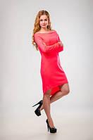Модное женское платье - маллет, с открытыми плечами