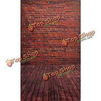 3x5ft 90x150см винил деревянный пол кирпича студия проп фотографии фона