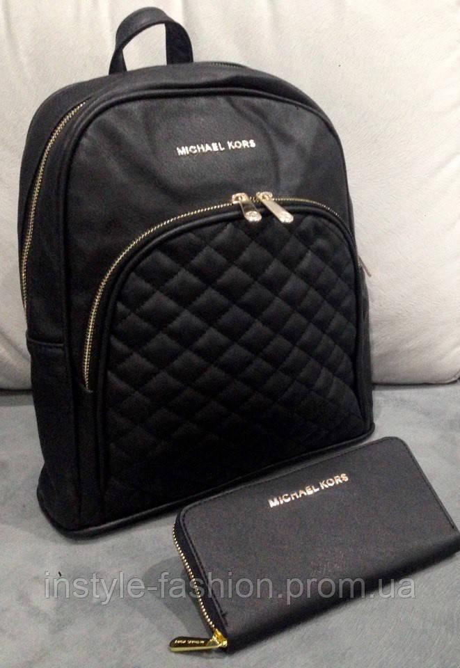 9436faa924b8 Рюкзак женский брендовый сумка Michael Kors Майкл Корс черный ...