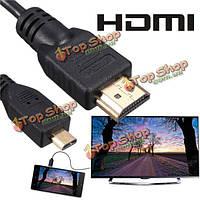 6 футов микро HDMI мужчин и мужского адаптер конвертер кабель HDMI для монитора ПК