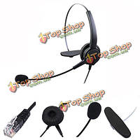 RJ11 телефонная гарнитура микрофон с шумоподавлением для наушников наушники для настольных телефонов