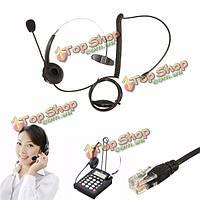 Телефонный разговор центр гарнитура микрофон с шумоподавлением RJ11 гарнитура для офисного телефона
