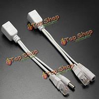 Власть над Ethernet пассивный poe комплект разделителя инжектора для всех белых устройств