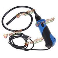 7мм 6 LED водонепроницаемый гибкий эндоскоп USB водонепроницаемый камера осмотра бороскоп с ручкой