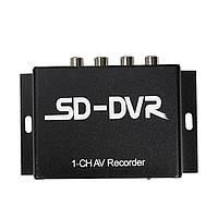Двойной поток 1 канал SD карта мини видеонаблюдения DVR видео-рекордер с интерфейсом RS485