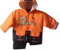 Детский оранжевый комбинезон