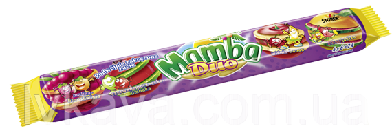 Жевательные конфеты Strock Mamba Duo, 106 гр