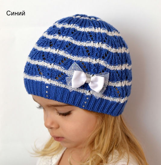 Ажурная шапочка на весну девочке