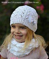 Ажурная шапочка белая