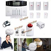 Смс домой пожарной сигнализация датчик автоматического дозвона домашней безопасности GSM беспроводной ЖК