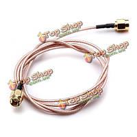100см серебрение соединительной линии SMA мужской к мужчине коаксиальный кабель пигтейл