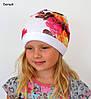 Белая шапка для девочки