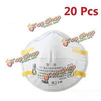 20шт 3м 8210 частиц пыли PM2.5 N95 работает респиратор сварные маски вложений ремень