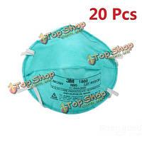 20шт 3м 1860 стандартный размер N95 здравоохранения медицинская респиратор хирургические маски окно