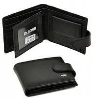 Мужской кожаный кошелек портмоне Dr. Bond маленький натуральная кожа