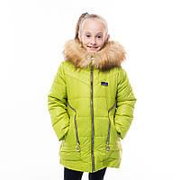 Зимнее пальто для девочки Змейки, новинки зима 2017