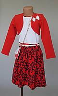 Платье для девочек из модной ткани с болеро