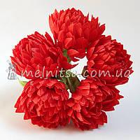 Букет хризантем, красный