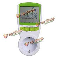 Электрический энергосберегающий измеритель мощности ватт потребление монитора анализатора
