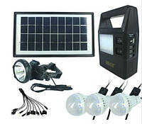 Портативная универсальная солнечная систем GDLITE GD-8126 с функцией MP3 плеера и FM радио