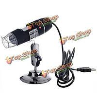 Портативный микроскоп 40x-800x 8 LED USB цифровой микроскоп лупа камеры