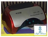 Лампа для сушки ногтей Гибридная  CCFL+LED Professional nail 48W красная