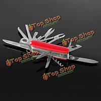 Красный швейцарский многофункциональный складной армейский 91мм ножей выживания инструменты