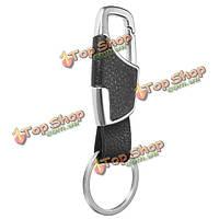 Металла кожаный ремешок для ключей брелки авто брелок кольцо брелок держатель подарок