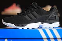 Adidas ZX Flux Black\white кроссовки Адидас черно - белые