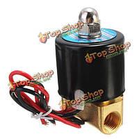 1/4-дюйма электрический электромагнитный клапан для воздуха воды газа дизель 12В DC