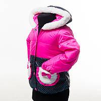 """Яркая нарядная демисезонная курточка для маленьких модниц """"Лина"""""""