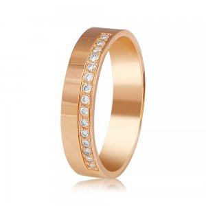 Золотое обручальное кольцо с фианитами - Магия Золота https   magicgold.com. 7a7f4c449ba14