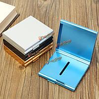 Двусторонний флип открытым мундштук алюминиевый корпус для хранения сигарет 20 сигарет 4 цвета