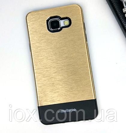 Подвійний чохол золотий Motomo для Samsung Galaxy A3 (2016)