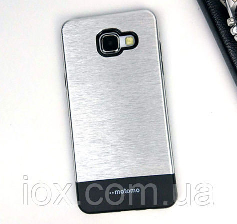 Чехол серебрянный двойной Motomo для Samsung Galaxy A5 (2016)
